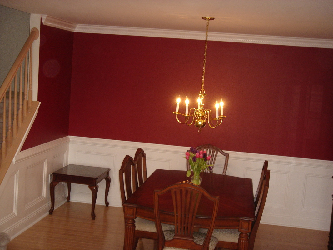 Exceptional Dining Room Paint Ideas With Chair Rail Wayne Nj The Room Next To